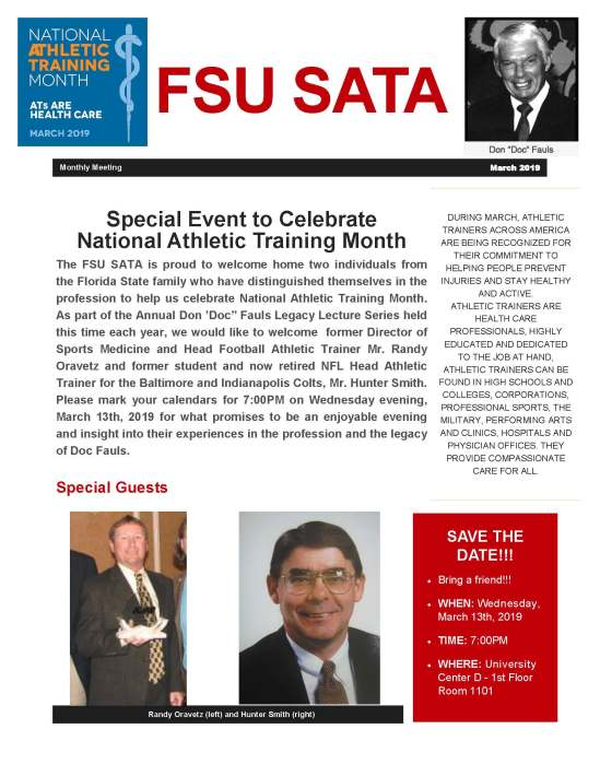 NATA Month 2019_SATA meeting